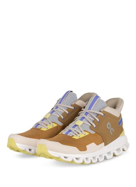 On Running Sneaker CLOUD HI EDGE, Farbe: BEIGE/ HELLBRAUN (Bild 1)