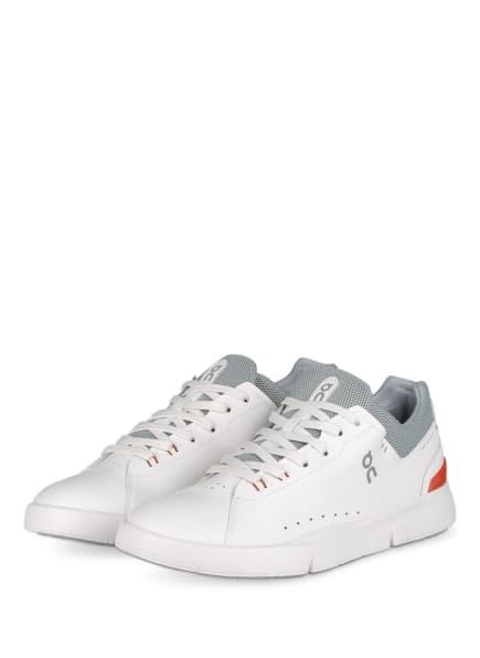 On Sneaker THE ROGER ADVANTAGE, Farbe: WEISS/ GRAU/ ORANGE (Bild 1)