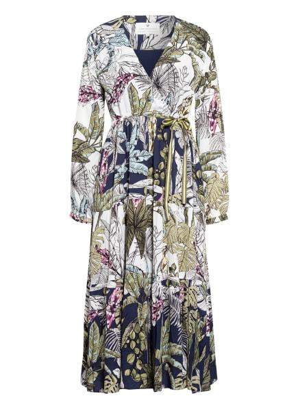 LIEBLINGSSTÜCK Kleid in Wickeloptik, Farbe: DUNKELBLAU/ WEISS/ OLIV (Bild 1)