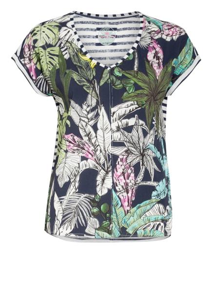 LIEBLINGSSTÜCK T-Shirt mit Leinen , Farbe: DUNKELBLAU/ GRÜN/ HELLGRÜN (Bild 1)