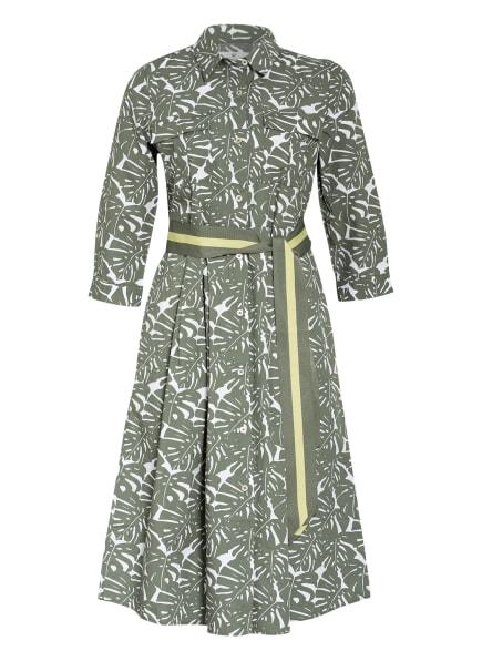 LIEBLINGSSTÜCK Hemdblusenkleid RIALAL mit 3/4-Arm, Farbe: OLIV/ WEISS (Bild 1)