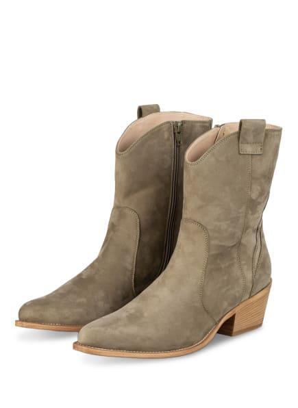 DONNA CAROLINA Cowboy Boots, Farbe: OLIV (Bild 1)