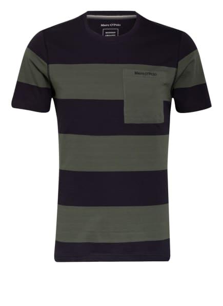 Marc O'Polo Schlafshirt , Farbe: KHAKI/ DUNKELBLAU (Bild 1)