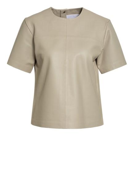REMAIN BIRGER CHRISTENSEN Blusenshirt AUDREY aus Leder , Farbe: HELLGRAU (Bild 1)
