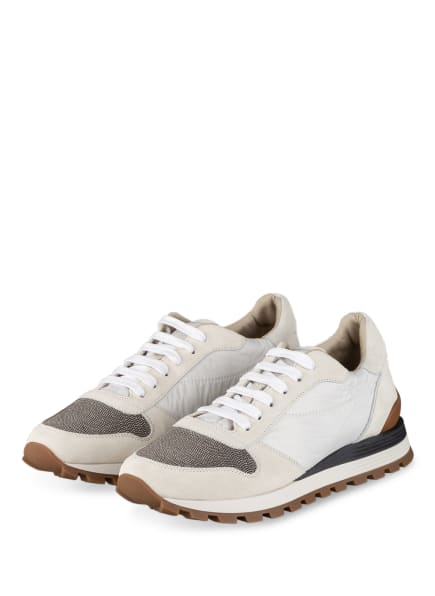 BRUNELLO CUCINELLI Plateau-Sneaker, Farbe: CREME/ SILBER (Bild 1)