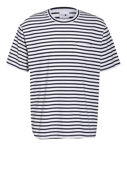 NN07 T-Shirt KURT, Farbe: DUNKELBLAU/ WEISS (Bild 1)