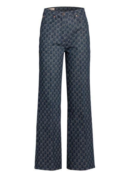 GUCCI Bootcut Jeans, Farbe: DUNKELBLAU/ ECRU (Bild 1)