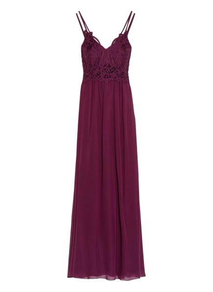 Suddenly Princess Abendkleid mit Spitzenbesatz , Farbe: DUNKELROT (Bild 1)