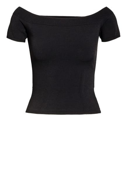Alexander McQUEEN Off-Shoulder-Strickshirt, Farbe: SCHWARZ (Bild 1)