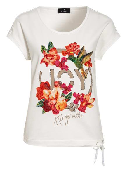 monari T-Shirt mit Nietenbesatz, Farbe: WEISS/ GRÜN/ ROT (Bild 1)
