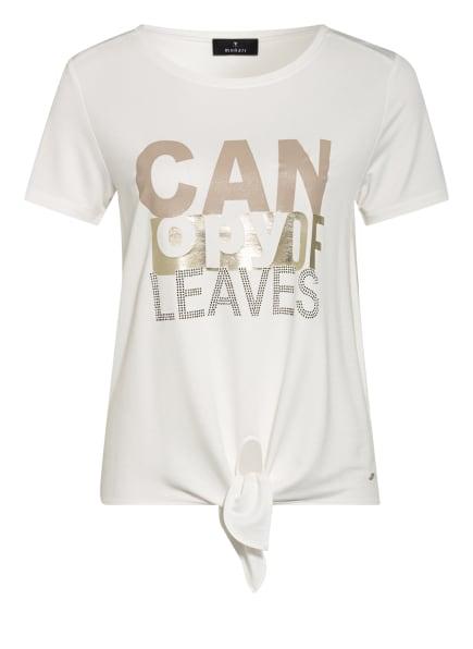monari T-Shirt mit Schmucksteinbesatz, Farbe: WEISS/ GOLD (Bild 1)