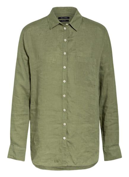 Marc O'Polo Hemdbluse aus Leinen, Farbe: OLIV (Bild 1)