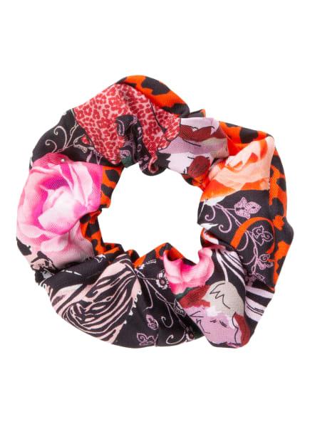 CODELLO Haargummi aus Seide, Farbe: SCHWARZ/ ORANGE/ ROSÉ (Bild 1)