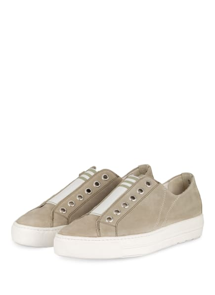 paul green Slip-on-Sneaker mit Plateausohle, Farbe: WEISS/ TAUPE (Bild 1)