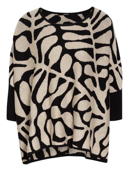 someday Oversized-Pullover TJELVA, Farbe: SCHWARZ/ HELLBRAUN (Bild 1)