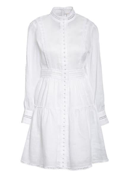 Mrs & HUGS Leinenkleid mit Spitzenbesatz, Farbe: WEISS (Bild 1)