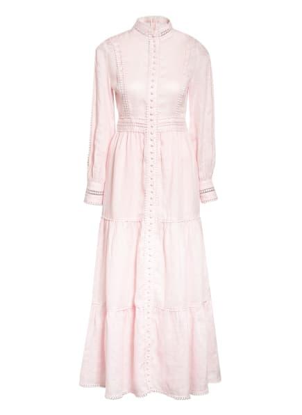 Mrs & HUGS Leinenkleid mit Spitzenbesatz, Farbe: ROSA (Bild 1)