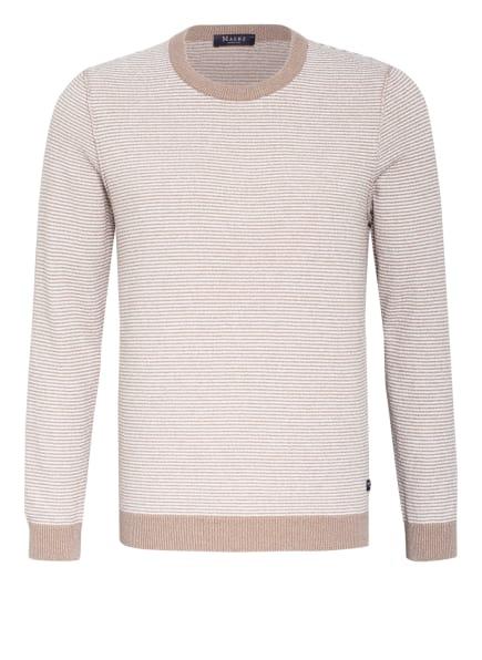 MAERZ MUENCHEN Pullover, Farbe: BEIGE/ WEISS (Bild 1)