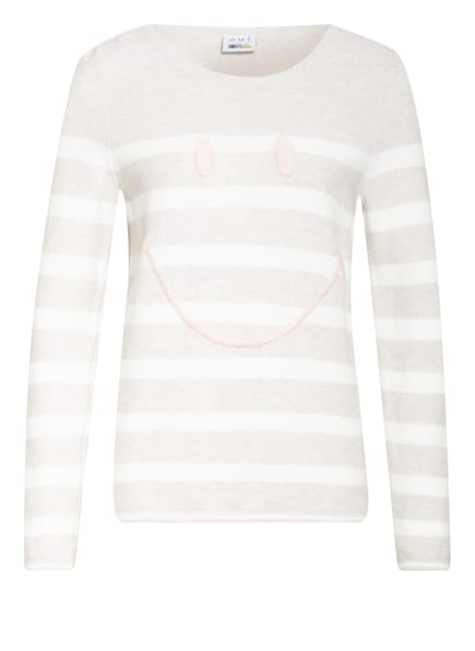 oui Pullover , Farbe: CREME/ WEISS (Bild 1)