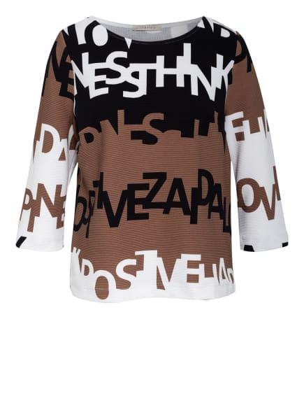 lilienfels Shirt mit 3/4-Arm , Farbe: SCHWARZ/ WEISS/ BRAUN (Bild 1)