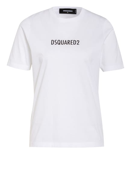 DSQUARED2 T-Shirt RENNY, Farbe: WEISS/ SCHWARZ/ ROT (Bild 1)
