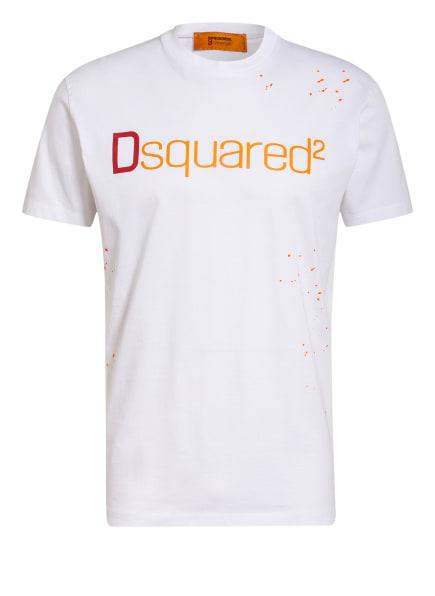 DSQUARED2 T-Shirt , Farbe: WEISS/ DUNKELROT/ ORANGE (Bild 1)