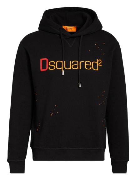 DSQUARED2 Hoodie, Farbe: SCHWARZ/ DUNKELROT/ ORANGE (Bild 1)