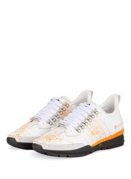 DSQUARED2 Sneaker, Farbe: WEISS/ ORANGE (Bild 1)