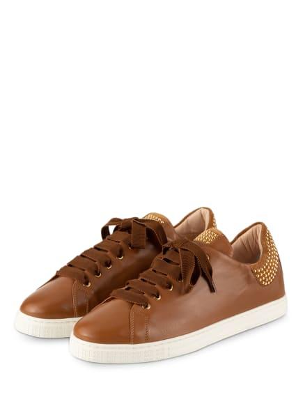 AGL ATTILIO GIUSTI LEOMBRUNI Sneaker MARISTELLA mit Nietenbesatz, Farbe: COGNAC (Bild 1)