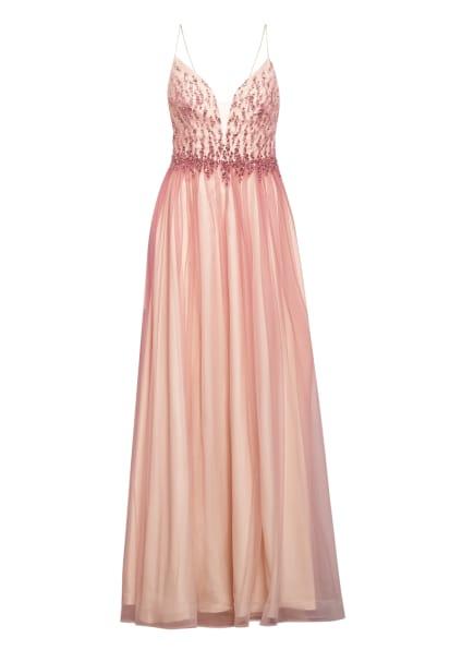 unique Abendkleid mit Stola, Farbe: NUDE/ PINK (Bild 1)