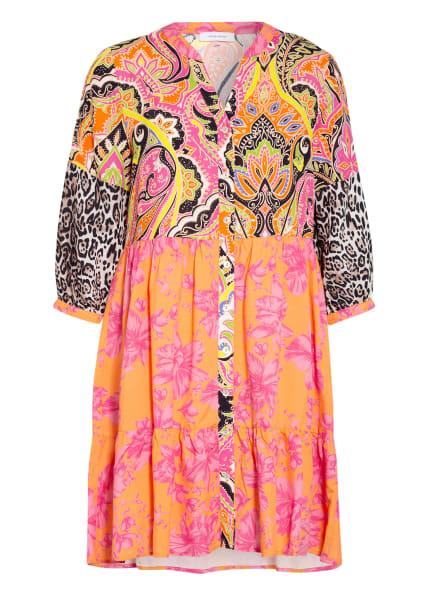 darling harbour Kleid mit 3/4-Arm, Farbe: SCHWARZ/ PINK/ ORANGE (Bild 1)