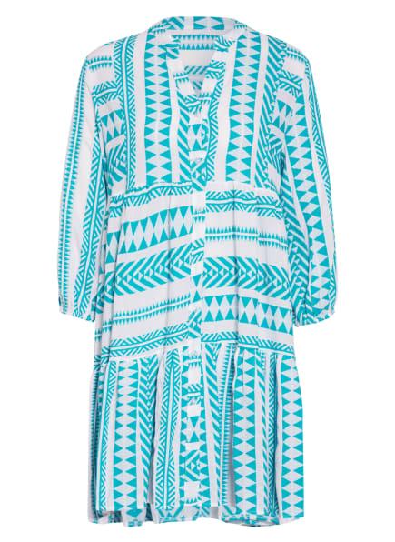 darling harbour Kleid mit 3/4-Arm, Farbe: TÜRKIS/ WEISS (Bild 1)