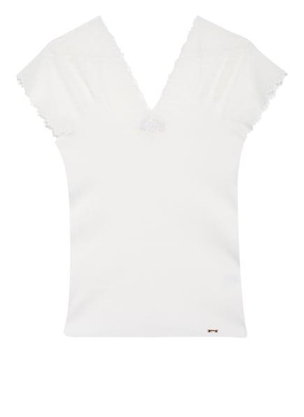 CINQUE T-Shirt mit Spitzeneinsatz, Farbe: WEISS (Bild 1)