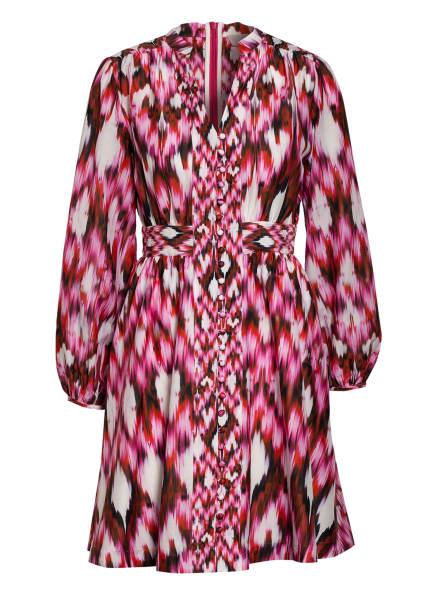Mrs & HUGS Kleid mit Seide, Farbe: ROT/ WEISS/ PINK (Bild 1)