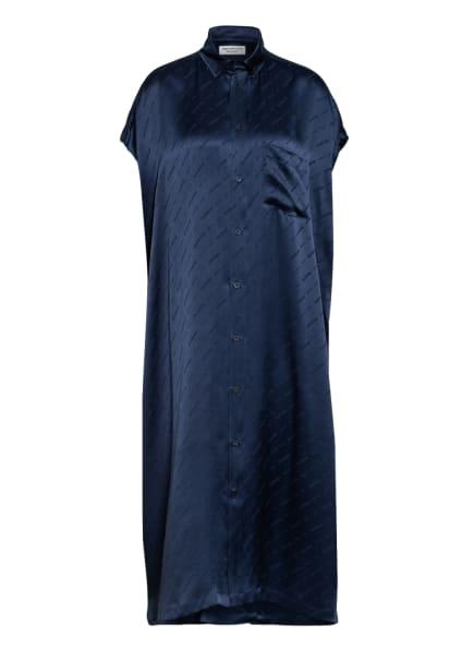 BALENCIAGA Oversized-Kleid aus Seide, Farbe: DUNKELBLAU (Bild 1)