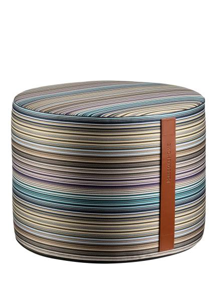 MISSONI Home Pouf JENKINS, Farbe: DUNKELBRAUN/ PETROL/ DUNKELLILA (Bild 1)