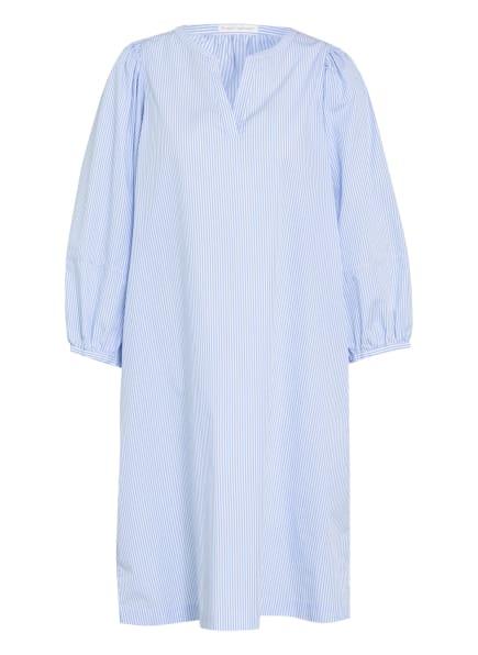 ROBERT FRIEDMAN Kleid CLAIRE mit 3/4-Arm, Farbe: HELLBLAU/ WEISS (Bild 1)