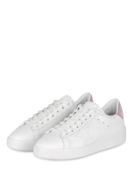 GOLDEN GOOSE Sneaker PURE STAR, Farbe: WEISS/ PINK (Bild 1)