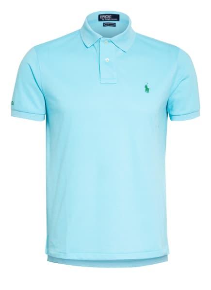 POLO RALPH LAUREN Piqué-Poloshirt Custom Slim Fit, Farbe: TÜRKIS (Bild 1)