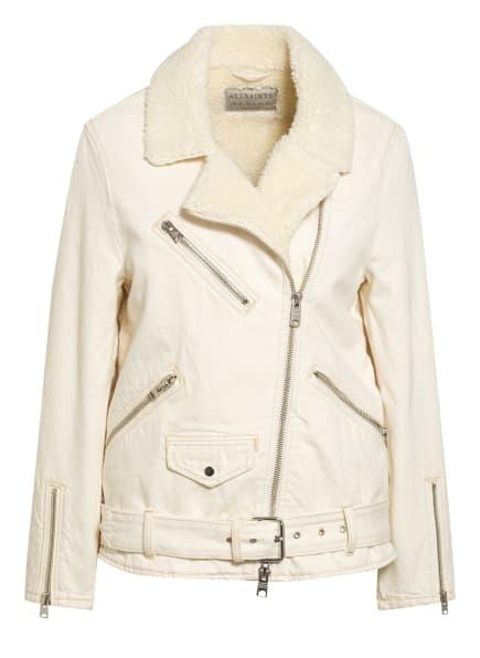 ALL SAINTS Oversized-Jeansjacke mit Kunstfellbesatz , Farbe: ECRU (Bild 1)