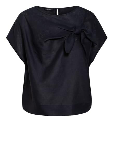 EMPORIO ARMANI Blusenshirt aus Leinen, Farbe: SCHWARZ (Bild 1)