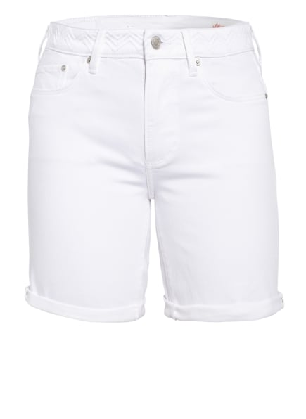 s.Oliver RED Jeans-Shorts , Farbe: WEISS (Bild 1)