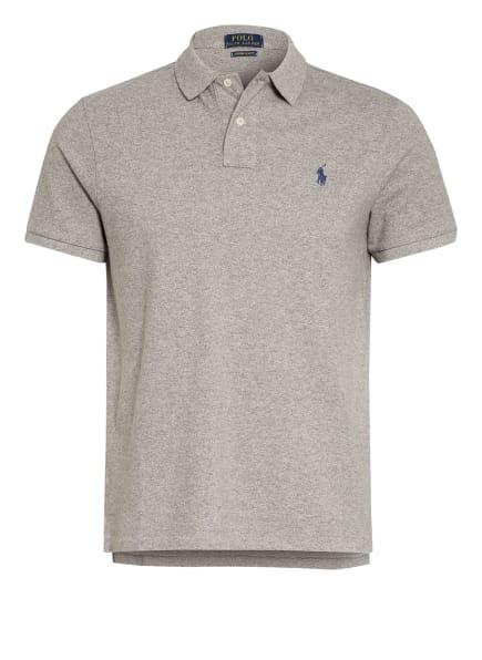 POLO RALPH LAUREN Piqué-Poloshirt Custom Slim Fit, Farbe: GRAU/ WEISS (Bild 1)