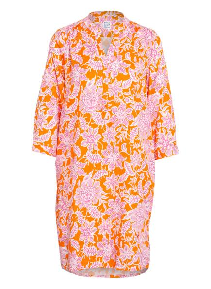 Emily Kleid mit 3/4-Arm, Farbe: ORANGE/ WEISS/ PINK (Bild 1)