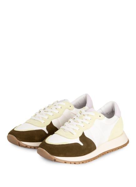 Mrs & HUGS Sneaker, Farbe: WEISS/ OLIV/ HELLGRÜN (Bild 1)