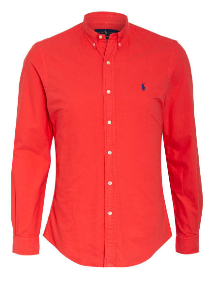 POLO RALPH LAUREN Oxford-Hemd Slim Fit, Farbe: ROT (Bild 1)
