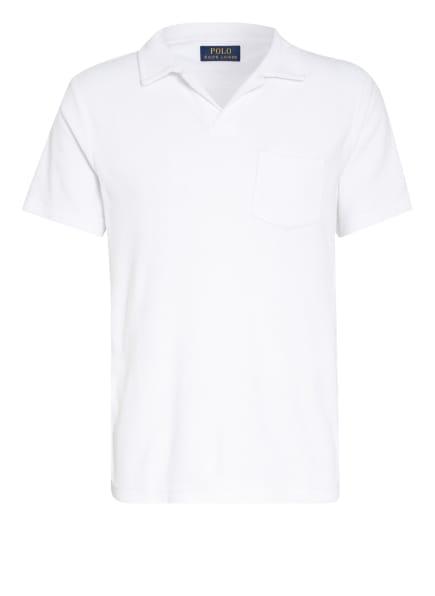 POLO RALPH LAUREN Frottee-Poloshirt, Farbe: WEISS (Bild 1)