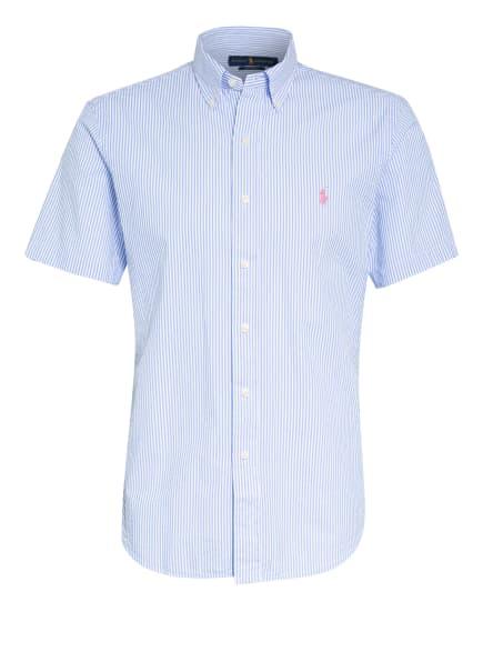 POLO RALPH LAUREN Kurzarm-Hemd Custom Fit, Farbe: HELLBLAU/ WEISS (Bild 1)