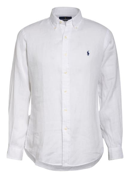 POLO RALPH LAUREN Leinenhemd Custom Fit, Farbe: WEISS (Bild 1)