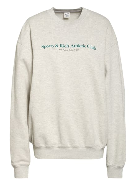 SPORTY & RICH Sweatshirt , Farbe: Heather Gray/Teal (Bild 1)